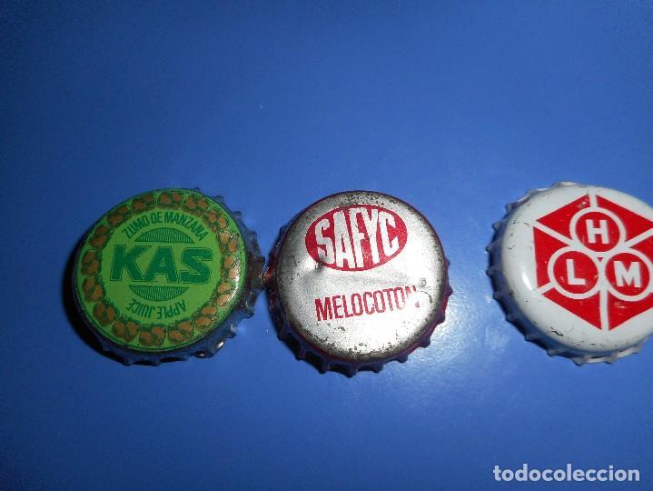 LOTE CHAPA DIFICILES KAS SAFYC HLM (Coleccionismo - Botellas y Bebidas - Coca-Cola y Pepsi)