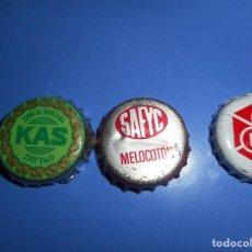 Coleccionismo de Coca-Cola y Pepsi: LOTE CHAPA DIFICILES KAS SAFYC HLM. Lote 102105891