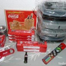 Coleccionismo de Coca-Cola y Pepsi: LOTE DE 18 OBJETOS COCA COLA (VER FOTOS Y LEER) COLECCIONISMO COCA-COLA TODO SIN USAR. Lote 102336047