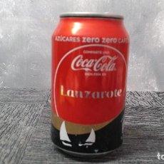 Coleccionismo de Coca-Cola y Pepsi: LATA VACÍA DE COCA-COLA ZERO · COMPARTE UNA COCA-COLA BIEN FRÍA EN LANZAROTE. Lote 103379931