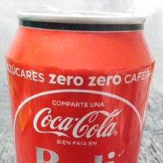 Coleccionismo de Coca-Cola y Pepsi: LATA VACÍA DE COCA-COLA ZERO · COMPARTE UNA COCA-COLA BIEN FRÍA EN BALI. Lote 103380039