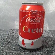Coleccionismo de Coca-Cola y Pepsi: LATA VACÍA DE COCA-COLA LIGHT · COMPARTE UNA COCA-COLA BIEN FRÍA EN CRETA. Lote 103380323