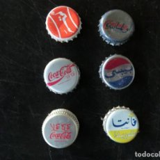 Coleccionismo de Coca-Cola y Pepsi: COLECCION DE CHAPAS DE BEBIDAS,TURQUIA O MARRUECOS( PEPSI , COCA COLA ETC) VINTAGE, AÑOS 70. Lote 103799003