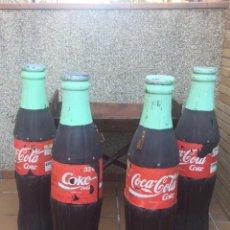 Coleccionismo de Coca-Cola y Pepsi: COCACOLAS 1 METRO DE ALTO. FIBRA DE VIDRIO. 25 AÑOS. Lote 103853095
