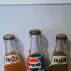 Coleccionismo de Coca-Cola y Pepsi: LOTE 3 BOTELLINES PEPSI FANTA NARANJA Y LIMÓN. Lote 104020083