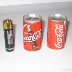 Coleccionismo de Coca-Cola y Pepsi: 2 MINI LATAS DE PUBLICIDAD DE COCA COLA DIFERENTES UNA INGLESA Y OTRA ESPAÑOLA. Lote 104854147