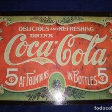 Coleccionismo de Coca-Cola y Pepsi: PLACA METALICA COCA-COLA 1991. Lote 105286127