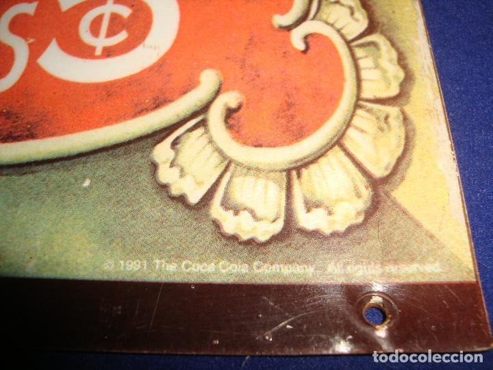 Coleccionismo de Coca-Cola y Pepsi: PLACA METALICA COCA-COLA 1991 - Foto 3 - 105286127
