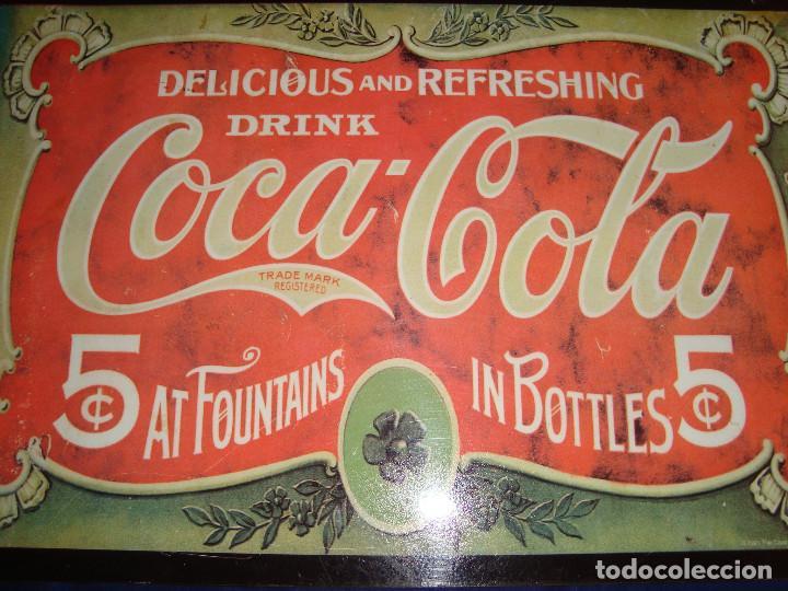 Coleccionismo de Coca-Cola y Pepsi: PLACA METALICA COCA-COLA 1991 - Foto 7 - 105286127