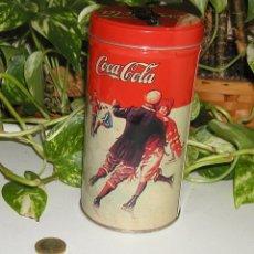 Coleccionismo de Coca-Cola y Pepsi: BOTE O CAJA METÁLICA CIRCULAR CON TAPA DE COCA COLA DECORACIÓN RETRO VINTAGE DÉCADA 90. Lote 106295187