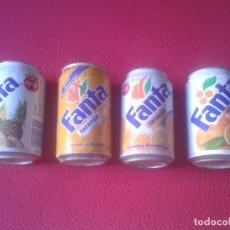 Coleccionismo de Coca-Cola y Pepsi: LOTE DE 4 LATAS DE FANTA (MARCA COCA COLA COCACOLA) MEDIADOS AÑOS 90 PARA ESPAÑA, PORTUGAL O SIMILAR. Lote 107358979