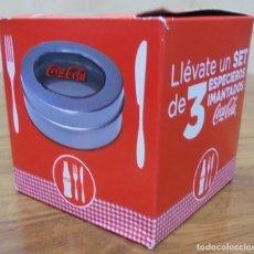 Coleccionismo de Coca-Cola y Pepsi: ARTICULO PROMOCIONAL COCA-COLA. SET DE 3 ESPECIEROS IMANTADOS EN SU CAJA ORIGINAL.. Lote 107797819