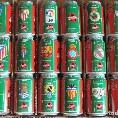 Coleccionismo de Coca-Cola y Pepsi: LATAS DE COCA COLA VACÍAS DE ALUMINIO LIGA DE FÚTBOL 96-97.. Lote 107869539