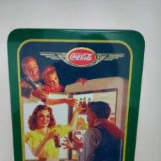 Coleccionismo de Coca-Cola y Pepsi: COCA COLA COCA-COLA CAJA METÁLICA LATA VINTAGE. Lote 108228355
