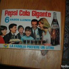 Coleccionismo de Coca-Cola y Pepsi: PEGATINA - ADHESIVOS DE PEPSI COLA - 30X20 CTM . Lote 109177159