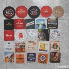Coleccionismo de Coca-Cola y Pepsi: LOTE DE 25 POSAVASOS DE CERVEZA. Lote 109309859