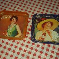 Coleccionismo de Coca-Cola y Pepsi: LOTE DE 2 ANTIGUOS POSAVASOS DE COCA-COLA, METALICOS.. Lote 109311235