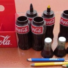 Coleccionismo de Coca-Cola y Pepsi: COCACOLA MEXICO- MINIATURAS RARA-CAJA DE 6 BOTELLAS PLASTICO FINALES DE LOS 80´. Lote 109321631