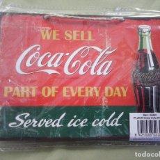 Coleccionismo de Coca-Cola y Pepsi: PLACA COCA COLA. REPRODUCCION SOBRE TABLA. 18 CMS. X 13 CMS.. Lote 109604207