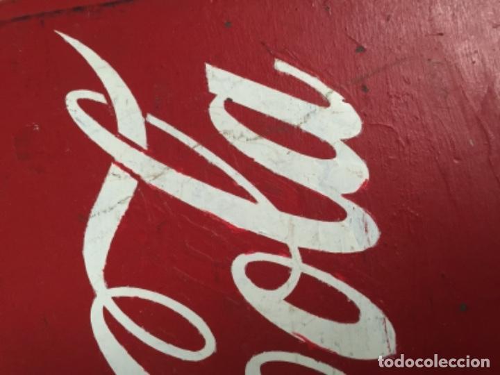 Antigua nevera coca cola de madera y chapa de l comprar - Chapa coca cola pared ...