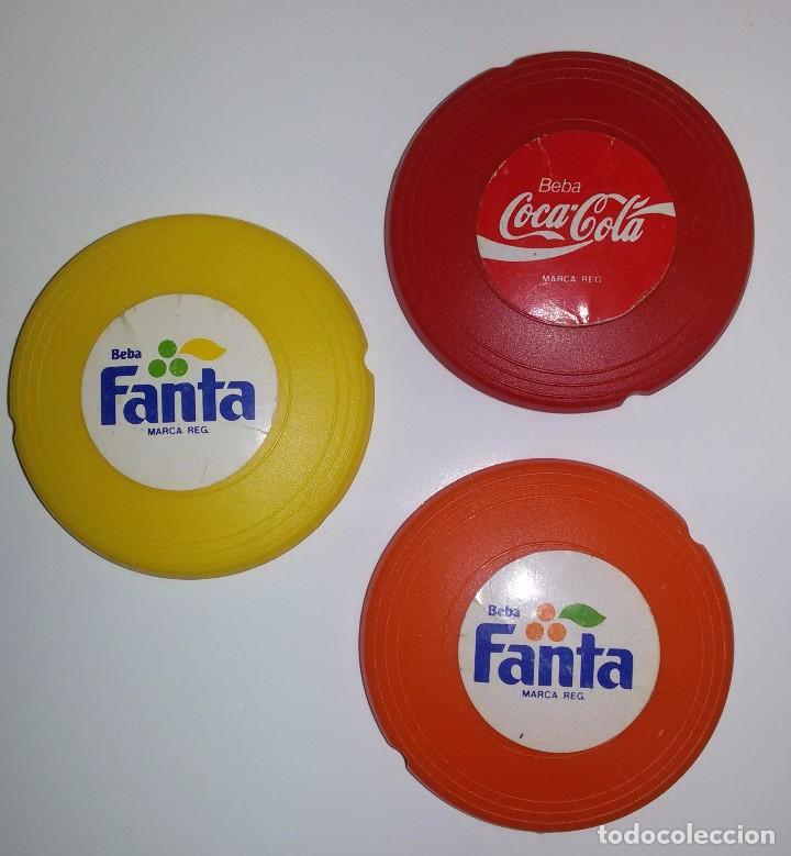 Coleccionismo de Coca-Cola y Pepsi: MINI FRISBEES PROMOCIÓN COCA COLA Y FANTA -COMPLETO- AÑOS 80 - Foto 3 - 62646764
