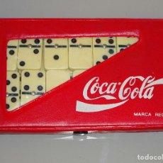 Coleccionismo de Coca-Cola y Pepsi: JUEGO DE DOMINÓ CLÁSICO DE COCA COLA CON ESTUCHE. 260 GR. Lote 111329627