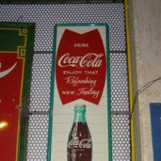 Coleccionismo de Coca-Cola y Pepsi: PLACA CHAPA LETRERO COCA-COLA ORIGINAL DE 1963. ROBERTSON (USA).. Lote 111461299