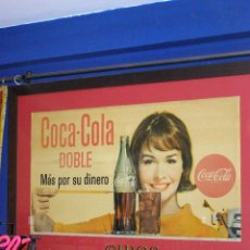 Coleccionismo de Coca-Cola y Pepsi: CARTEL COCA-COLA ESPAÑOL IMPRESO POR SEIX BARRAL. ORIGINAL DE 1965.. Lote 111461999