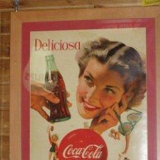 Coleccionismo de Coca-Cola y Pepsi: CARTEL COCA-COLA ESPAÑOL IMPRESO POR SEIX BARRAL. ORIGINAL DE 1950S. Lote 111462307