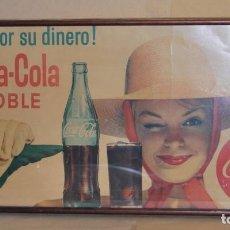 Coleccionismo de Coca-Cola y Pepsi: CARTEL COCA-COLA ESPAÑOL. ORIGINAL DE 1965. SEIX BARRAL,. Lote 111462939
