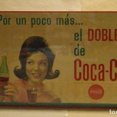 Coleccionismo de Coca-Cola y Pepsi: CARTEL COCA-COLA ESPAÑOL. ORIGINAL DE 1960S. SEIX BARRAL. Lote 111462975