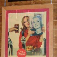 Coleccionismo de Coca-Cola y Pepsi: CARTEL COCA-COLA ESPAÑOL IMPRESO POR SEIX BARRAL (BARCELONA). ORIGINAL DE 1966. Lote 111463055