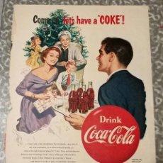 Coleccionismo de Coca-Cola y Pepsi: COCACOLA ANTIGUO ANUNCIO DRINK COCA-COLA. Lote 112157903