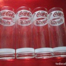 Coleccionismo de Coca-Cola y Pepsi: LOTE 4 VASOS-COCA COLA-TUBO-RAROS Y ESCASOS-NOS-VER FOTOS. Lote 112177835
