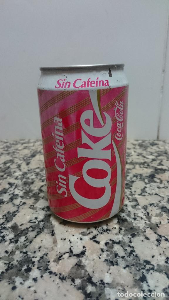 Coleccionismo de Coca-Cola y Pepsi: ANTIGUA LATA COCA COLA SIN CAFEINA - Foto 2 - 112252111