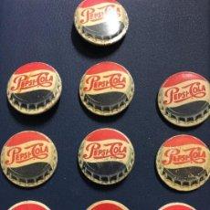 Coleccionismo de Coca-Cola y Pepsi: 10 INSIGNIAS DE CHAPA PARA SOLAPA PEPSI COLA.ANTIGUAS. Lote 117611100