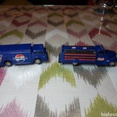 Coleccionismo de Coca-Cola y Pepsi: 2 CAMIONES ANTIGUOS DE PEPSI COLA. Lote 112651790