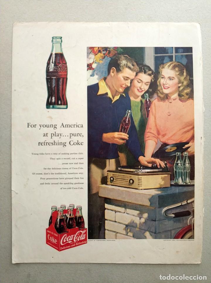 COCACOLA ANTIGUO ANUNCIO COCA-COLA 1953 COCA COLA (Coleccionismo - Botellas y Bebidas - Coca-Cola y Pepsi)