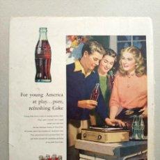 Coleccionismo de Coca-Cola y Pepsi: COCACOLA ANTIGUO ANUNCIO COCA-COLA 1953 COCA COLA. Lote 112977879