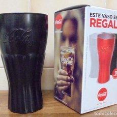 Coleccionismo de Coca-Cola y Pepsi: VASO PROMOCIONAL COCA-COLA. COLOR NEGRO. MIDE 14 CM DE ALTO CON SU CAJA ORIGINAL. . Lote 113116211
