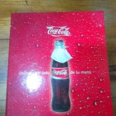 Coleccionismo de Coca-Cola y Pepsi: ORIGINAL CARPETA PARA PRESENTACIÓN DE MENÚ, DE LA MARCA COCA-COLA,IDEAL COLECCIONISTAS. Lote 113303132
