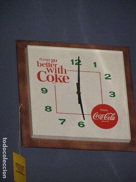 RELOJ COCA-COLA AMERICANO. ORIGINAL DE 1960S. (Coleccionismo - Botellas y Bebidas - Coca-Cola y Pepsi)