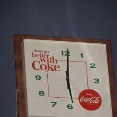 Coleccionismo de Coca-Cola y Pepsi: RELOJ COCA-COLA AMERICANO. ORIGINAL DE 1960S.. Lote 114047055