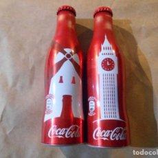 Coleccionismo de Coca-Cola y Pepsi: 2 BOTELLAS COCACOLA ALUMINIO--. Lote 114584163