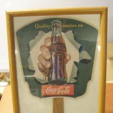 Coleccionismo de Coca-Cola y Pepsi: ANTIGUO PAY PAY COCA-COLA. ORIGINAL DE 1950S. ENMARCADO.. Lote 114600327