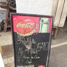 Coleccionismo de Coca-Cola y Pepsi: ANTIGUA PIZARRA DE COCA COLA, . Lote 114670375
