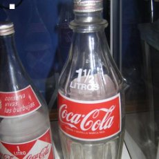 Coleccionismo de Coca-Cola y Pepsi: BOTELLA COCA-COLA 1,5L ESPAÑOLA. VIDRIO. CON TAPÓN DE ROSCA ORIGINAL. AUTÉNTICA DE 1970S.. Lote 114715707