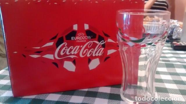 COCA-COLA 12 VASOS Y 2 BUFANDAS EURO 2016 (Coleccionismo - Botellas y Bebidas - Coca-Cola y Pepsi)