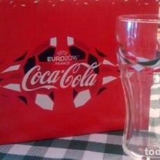 Coleccionismo de Coca-Cola y Pepsi: COCA-COLA 12 VASOS Y 2 BUFANDAS EURO 2016. Lote 114735699