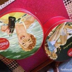 Coleccionismo de Coca-Cola y Pepsi: 2 LATAS REDONDAS COCA -COLA COLECCIÓN. Lote 115232515